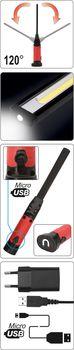 купить YT-08518 Фонарь аккумуляторный 5 + 3Вт, COB LED 600/260 в Кишинёве