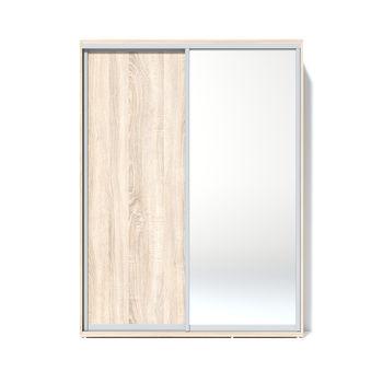 Шкаф купе 1600 1 зеркало, Дуб сонома
