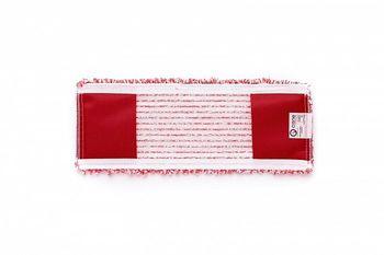 Bucle - Моп плоский микрофибра  красный 40х15 см, карманы