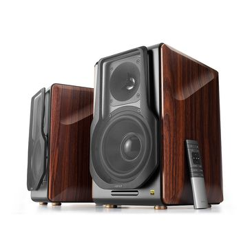 Edifier S3000 Pro, Hi-Fi 2.0/ 256W (2x128W) RMS, Bluetooth 5.0(aptX), KleerNet, Three-amping, Audio in: two digital (Optical, Coaxial) & two analog (RCA), remote control, wooden, Hi-Res Audio