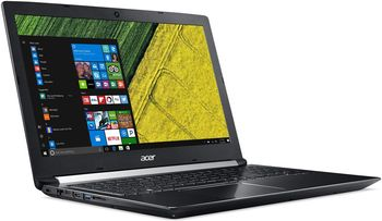 "ACER Aspire A715-71G Obsidian Black (NX.GP9EU.029) 15.6"" FullHD (Intel® Core™ i7-7700HQ 2.80-3.80GHz (Kaby Lake), 16Gb DDR4 RAM, 128GB SSD / 1.0TB HDD, GeForce® GTX 1050Ti 4Gb DDR5, w/o DVD, CardReader, WiFi-AC/BT, 4cell, HD Webcam, RUS, Linux, 2.9kg"