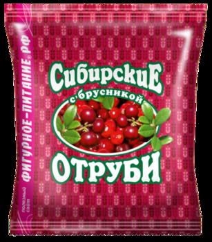 🌿 Сибирские отруби «Пшеничные» натуральные с брусникой.