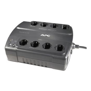 APC Back-UPS BE700G-SP, 700VA/405W, 8 x CEE 7/7 Schuko (4 Battery Backup, all 8 Surge Protected), RJ-11/ RJ-45 Data Line Protection, LED indicators