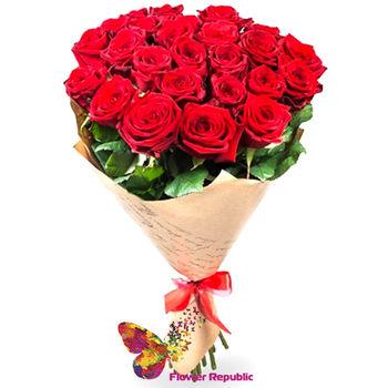 купить Букет из 25 Красных роз ЭКВАДОР 60-70СМ в Кишинёве