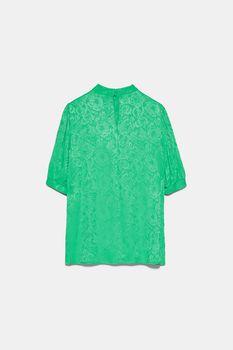Блуза ZARA Зеленый 3666/034/500