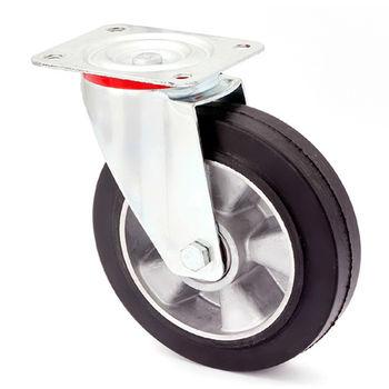 Колесо поворотное – Ø200mm,металлические диски