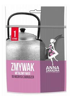 Губка металлическая для мытья посуды 1шт Anna Zaradna