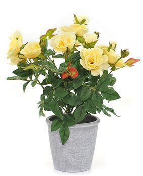 Цветы роза белая, 39 см