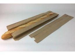 Бумажные пакеты для хлеба с окошком  10*40 см