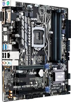ASUS PRIME H270M-PLUS, Socket 1151, Intel® H270, Dual 4xDDR4-2400, 2xPCIe X16, CPU Intel graphics, DVI, HDMI, 6xSATA3, RAID, 2x M.2 slot, 2xPCIe X1, ALC887 7.1ch HDA, GigabitLAN, 1xUSB3.0/Type-C, 6xUSB3.0, 5X Pro.III, mATX