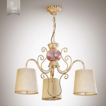 N&B Light Люстра Санта-Мария 14503-1 блестящий беж, крем/золото