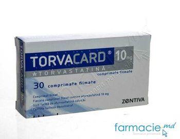 купить Torvacard comp.film. 10 mg N15x2 в Кишинёве