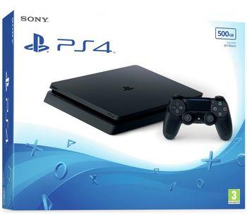Game Console  Sony Playstation 4 Slim 500GB Black, 1 x Gamepad (Dualshock 4)
