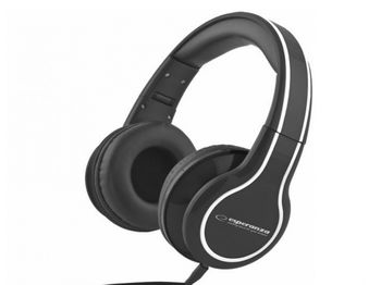 "Esperanza EH136K ""BLUES"" Black, Stereo audio Headphones with Volume control, 5 m cable lenght"