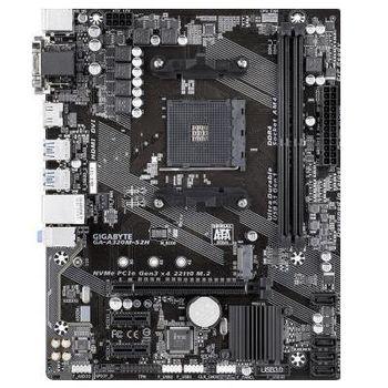 GIGABYTE GA-A320M-S2H, Socket AM4, AMD A320, Dual 2xDDR4-3200, APU AMD graphics, VGA, DVI, HDMI, 1xPCIe X16, 4xSATA3, RAID, 1xM.2 slot, 2xPCIe X1, ALC887 HDA, GbE LAN, 6xUSB3.1, mATX