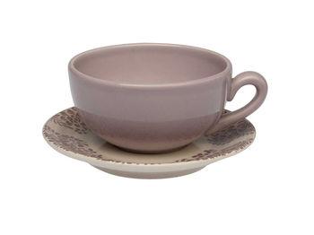 Чашка для чая 350ml с блюдцем Tognana Coimbra Lilla