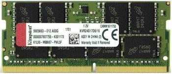 4GB DDR4-2400 SODIMM  Kingston ValueRam, PC19200, CL17, 1.2V