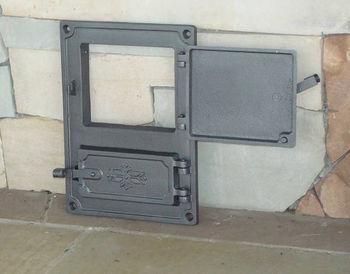 Дверца чугунная глухая правая DPK4