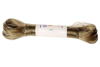 Веревка бельевая метализированная с крючками 30/40m