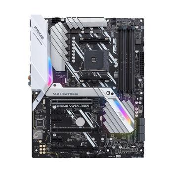 ASUS PRIME X470-PRO, Socket AM4, AMD X470, Dual 4xDDR4-3600, APU AMD graphics, HDMI, DP, 2xPCIe X16, 6xSATA3, 3xPCIeX1, RAID, 2xM.2 w/heatsink, S1220A 8Ch HDA+Optical,GbE LAN, 2xUSB3.1 Gen 2, 7xUSB3.1 (1xType-C & 6xType-A), Aura Sync RGB, ATX
