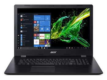 "ACER Aspire A317-51K Shale Black (NX.HEKEU.011) 17.3"" HD+ (Intel® Core™ i3-7020U 2xCore 2.3GHz , 8Gb (2x4) DDR4 RAM, 256GB PCIe SSD, Intel® UHD Graphics 620, w/o DVD, WiFi-AC/BT, 2cell, 0.3MP webcam, RUS, Linux, 2.8kg)"