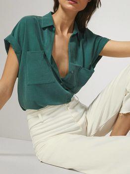 Блуза Massimo Dutti Зеленый 6867/887/500