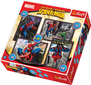 "34120 Trefl Puzzles - ""4in1"" - Spiderman / Disney Marvel Spiderman"