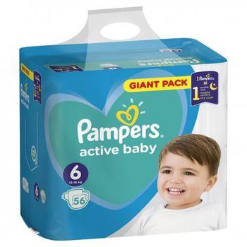 купить Pampers подгузники Giant Pack 6, 15 кг, 56шт в Кишинёве