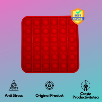 Pop It - Красный квадрат TikTok BEST SELLER