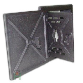 купить Дверца чугунная глухая левая с двойной стенкой Halmat - LM в Кишинёве