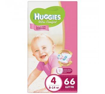 купить Подгузники Huggies Ultra Comfort Mega 4 Girl (8-14 kg) 66 шт в Кишинёве
