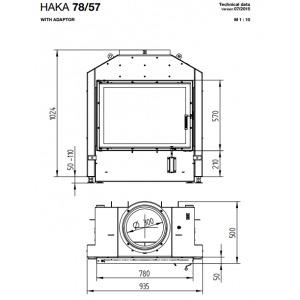 Каминная топка - HOXTER HAKA 78/57