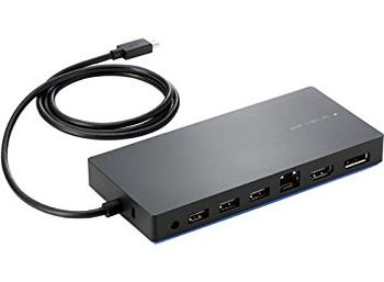 HP Elite USB-C Docking Station, DisplayPort, HDMI, RJ-45, 5 USB ports +  USB-C™ to USB-A  adapter