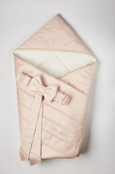 купить Одеялко-конверт на выписку Special baby (90x90 см) пудровый розовый в Кишинёве