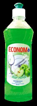 Средство для мытья посуды ECONOM зеленое яблоко 500ml