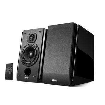 "Edifier R1850DB Black, 2.0/ 70W (2x35W) RMS, Audio In: Bluetooth, RCA x2, PC, AUX, optical, coaxial, remote control, all wooden(4""+3/4"")"