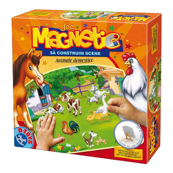 Магнитная игра Sa construim Scene, Animale Domestice, код 41263