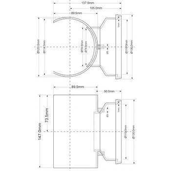купить Отвод - седло DN110/110 ( зажим ) Art MPSOB-110  McAlpine в Кишинёве