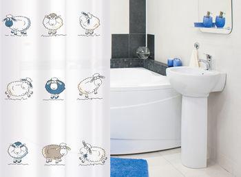 купить Штора в ванную Tatkraft FUNNY SHEEP 17450 в Кишинёве
