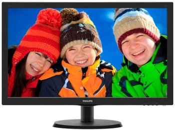 "21.5"" PHILIPS LED 223V5LSB2 Black (5ms, 10M:1, 200cd, 1920x1080, VGA, VESA)"