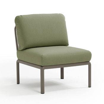 Кресло модуль центральный с подушками Nardi KOMODO ELEMENTO CENTRALE TORTORA-giungla Sunbrella 40373.10.140