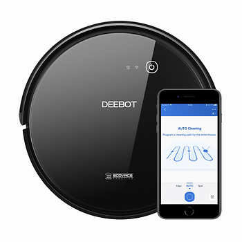 ECOVACS Robot Vacuum Cleaning DEEBOT 601, 3-stage cleaning system for effortless cleanliness, Smart Mode: Random+Hard Floor Mode, App Control, Self Charging, Working Time: 2h, Anti-Drop, Anti-Block