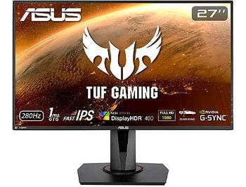 "Monitor 27"" ASUS TUF Gaming VG279QM HDR IPS Gaming Monitor WIDE 16:9, 0.311, 1ms, 280Hz, G-SYNC, Pivot, Contrast 1000:1, H:255-255kHz, V:48-280Hz, 1920x1080 Full HD, Speakers 2x2W, 2xHDMI v2.0/Display Port 1.2, (monitor/монитор)"