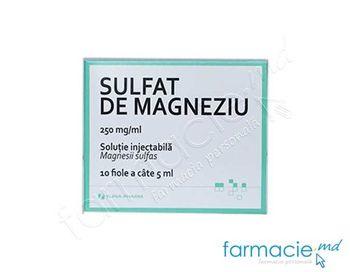 купить Magneziu sulfat sol. inj. 25%  5 ml N10 (Iuria Farm) в Кишинёве