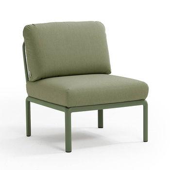 Кресло модуль центральный с подушками Nardi KOMODO ELEMENTO CENTRALE AGAVE-giungla Sunbrella 40373.16.140