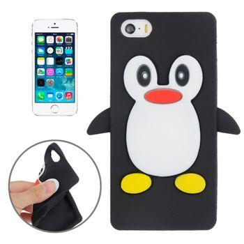 Чехол для  iPhone 5 / 5S Пингвин черный
