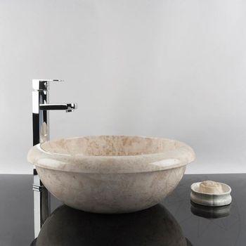 купить Мраморная раковина для ванной комнаты Капучино RS-19, 42 x 15 см в Кишинёве