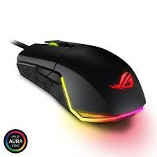 Игровая мышь Asus ROG Pugio, оптическая, 100-7200 dpi, 8 кнопок, симметричный, RGB, USB