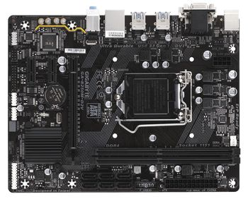 GIGABYTE GA-B250M-D2V, Socket 1151, Intel® B250, Dual 2xDDR4-2400, CPU Intel graphics, DVI, 1xPCIe X16, 6xSATA3, 2xPCIe X1, ALC887 7.1ch HDA, Gigabit LAN, 6xUSB3.1, mATX