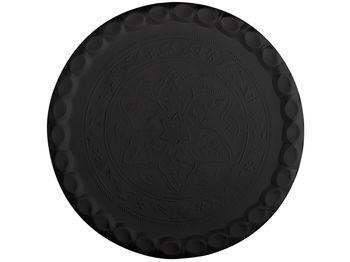 Поднос металлический черный/белый D46сm